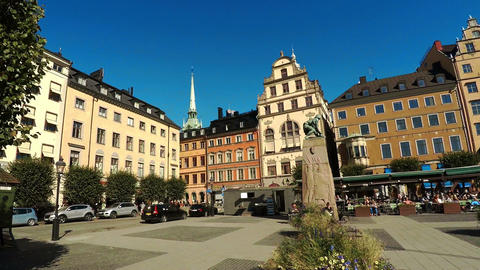 View on Gamla Stan in Stockholm. Old city. Sweden