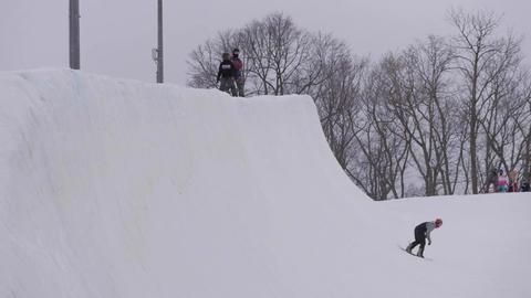 Snowboard half pipe 北海道 札幌 Live Action