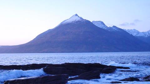 Evening in Elgol bay on west coast of the Isle of Skye in... Videos de Stock