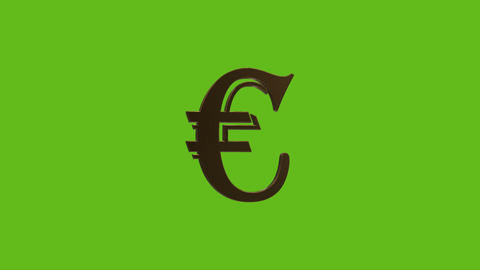euro currency symbol Footage