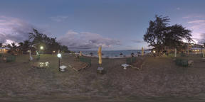 360 VR Evening view of resort on Mauritius Island Footage
