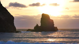 Evening in Talisker bay on west coast of the Isle of Skye in Scotland during an  영상물