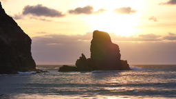 Evening in Talisker bay on west coast of the Isle of Skye... Videos de Stock
