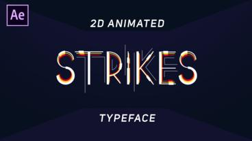 2D Animated Typeface After Effects Template