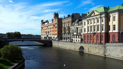 Stockholm. Old town. Architecture, old houses, streets and neighborhoods Footage