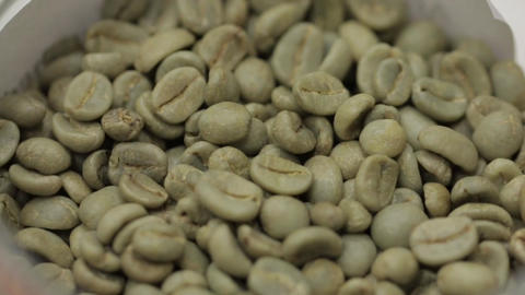 Grains of Green Coffee Footage
