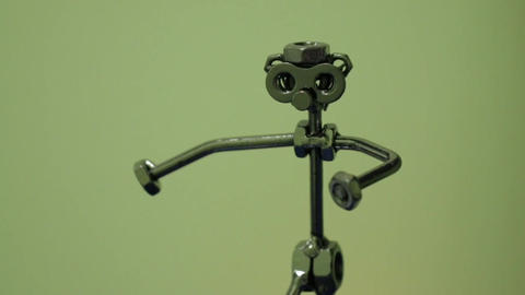Metal Figurine of Man Footage