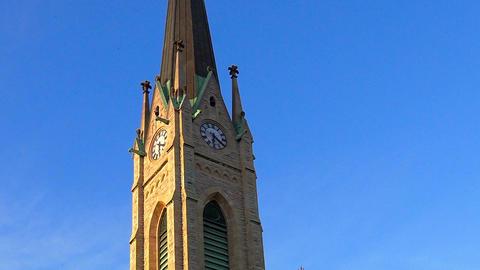 Church in Stockholm. Sweden Footage