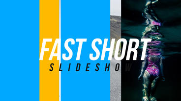 Fast Short Slideshow After Effects Template