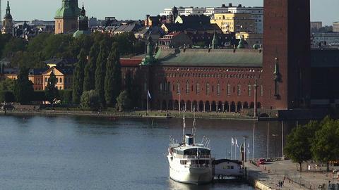City Hall in Stockholm. Sweden Footage