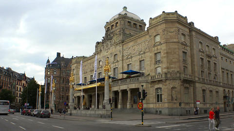 Dramatic Theatre in Stockholm. Sweden Footage