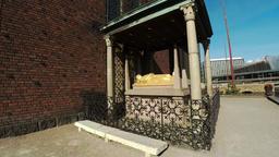 Birger Jarl's Tomb in the Stockholm City Hall. Sweden. 4K Footage