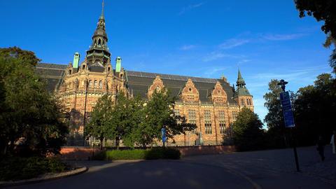 Nordiska museet. Museum of Ethnography in Stockholm. Sweden. 4K Footage
