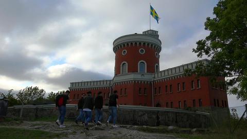 Fortress Kastellet in Stockholm. Sweden. 4K Footage