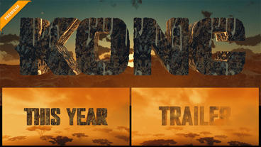 Trailer 3D Titles Movie - KONG Skull Island After Effects Template