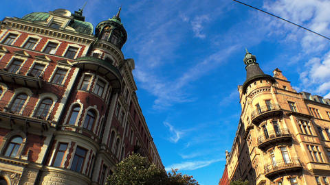 Stockholm. Old town. Architecture, old houses, streets and neighborhoods. 4K 画像