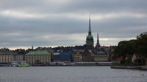 Stockholm. Old town. Architecture, old houses, streets and neighborhoods. 4K GIF