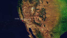 Los Angeles - United States zoom in from space Animation