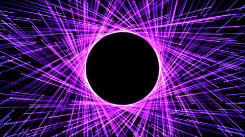 Circle Forming Particle Beams Animation - Violet Animation