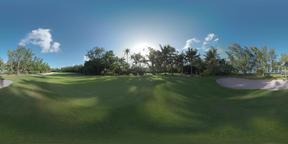 360 VR Empty golf course on Mauritius Island Archivo