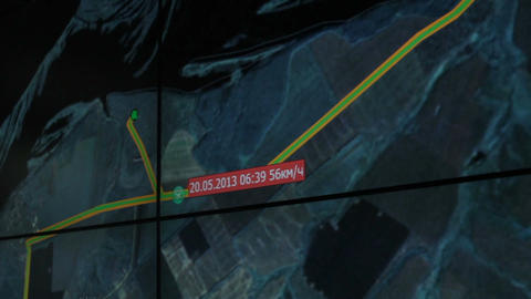 Closeup Follow the Object with Glonass in Ministry of Emergency Footage