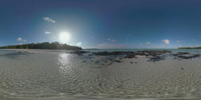 360 VR Nature scene of Mauritius with coast and blue ocean ビデオ