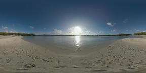 360 VR Scene with ocean and sandy beach in Mauritius Archivo