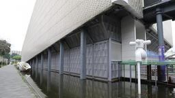 EcoARK Pavilion with plastic bottle facade Taipei Taiwan GIF