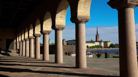 City Hall in Stockholm. Sweden. 4K Footage
