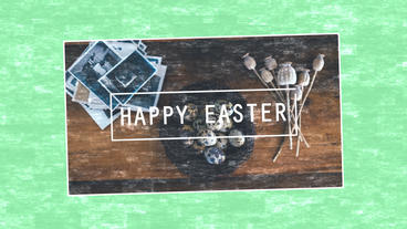 Happy easter greating card After Effects Projekt