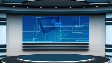 Education TV Studio Set 07 - Virtual Background Loop ライブ動画