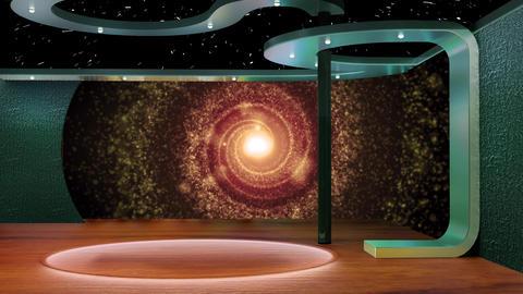Education TV Studio Set 09 - Virtual Background Loop ライブ動画