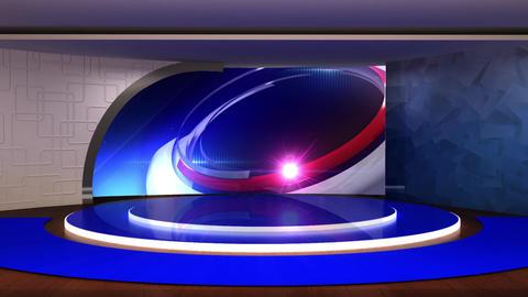 News TV Studio Set 292- Virtual Background Loop ライブ動画