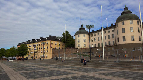 Wrangel Palace in Stockholm. Sweden. 4K Footage