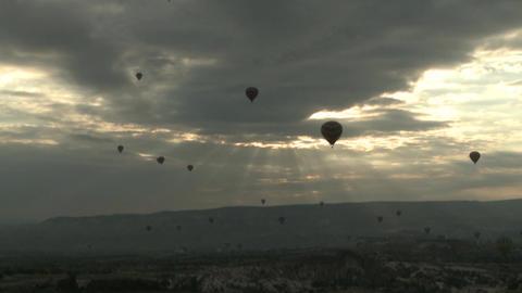 Hot Air Balloons in Cappadocia Turkey Footage