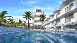 Hotel complex 3d image