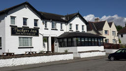 Great Britain Scotland Highland Invergordon Tuckers Inn hotel at cost road