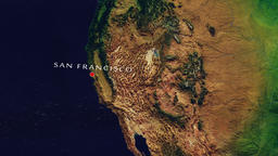 San Francisco - United States zoom in from space Animation