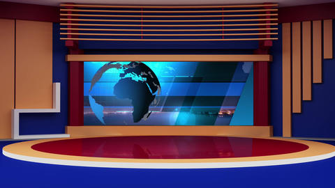 News TV Studio Set 274 - Virtual Green Screen Background Loop Footage