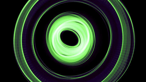 Glowing abstract curved changes in all kinds of psychedelic colors lines - Light Footage
