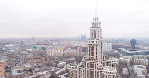 Aerial view Residential complex -Triumph-Palace- Moscow -