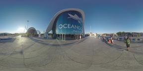 360 VR Oceanografic entrance and visitors in the City of Arts and Sciences, Vale Footage