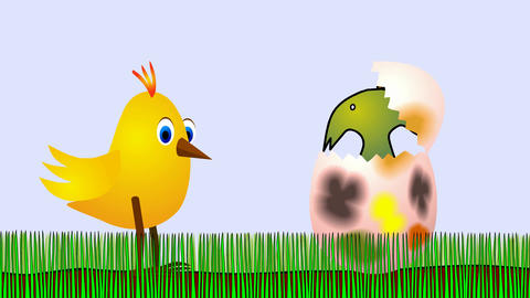 Easter chicken- disagreeable surprise Animation