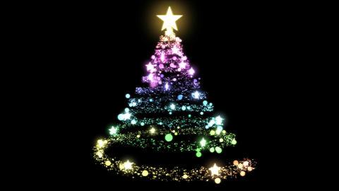 Christmas Tree Glitter Creation - Rainbow Animation