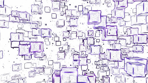 Abstract Moving Blocks Background - Loop Violet Animation
