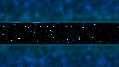 Abstract Bouncing Stars and Lights Animation - Loop Blue Animation