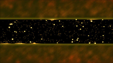 Abstract Bouncing Stars and Lights Animation - Loop Orange Animation