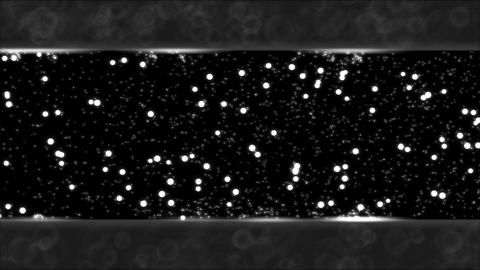 Abstract Bouncing Stars and Lights Animation - Loop Black and White Animation