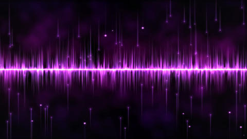 Abstract falling stars and lights animation - Loop Purple Animation