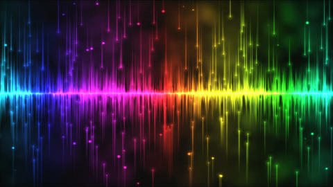 Abstract falling stars and lights animation - Loop Rainbow Animation